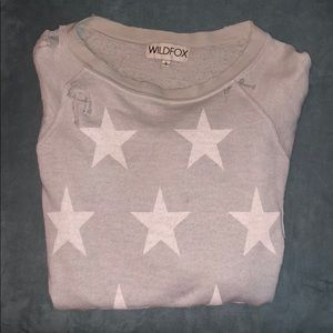 Distressed Wildfox sweater! ⭐️💫